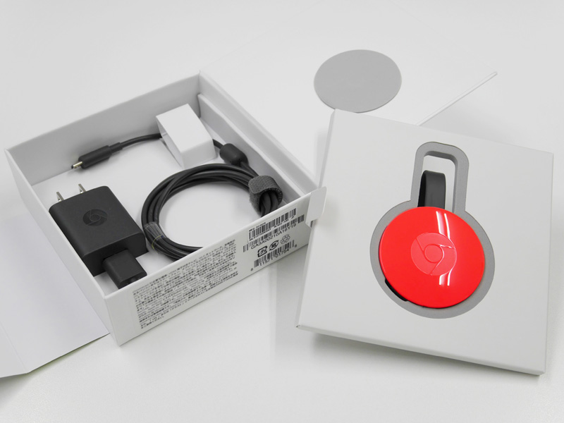 Chromecast 2015年モデル 同梱物