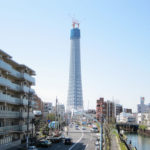 日本一高い建造物となった東京スカイツリー