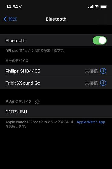 iOS14 Bluetoothペアリング