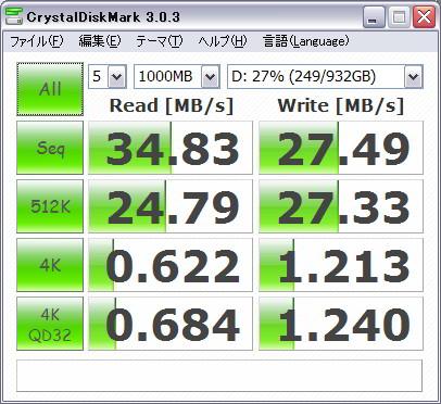 CrystalDiskMark - Windows XP
