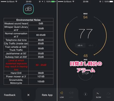 dB Decibel Meter - 環境騒音一覧
