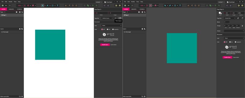 Gravit Designer - Trim Canvas