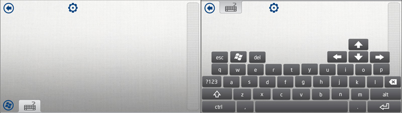 Intel Remote Keyboard 横向きキーボード