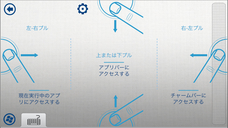 Intel Remote Keyboard チャーム操作