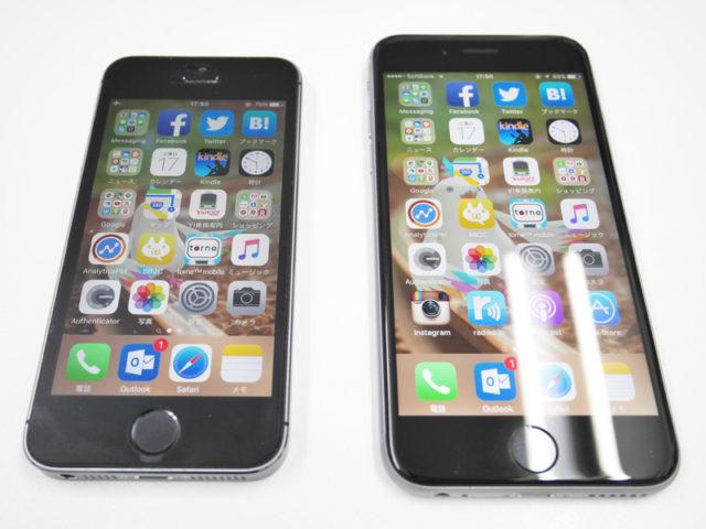 iPhone 5sと6s
