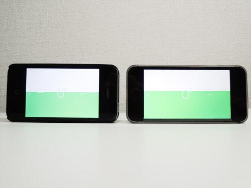 iPhone 5s加速度センサーのチェック