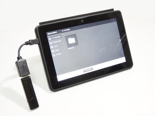 Kindle Fire HDXとUSB変換アダプタ