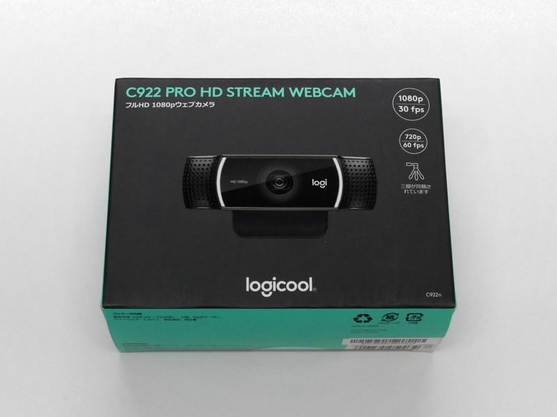 Logicool C922n Pro Stream Webcamのパッケージ