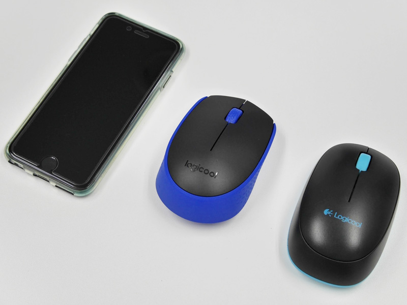 Logicool ワイヤレスマウス M170 サイズ比較