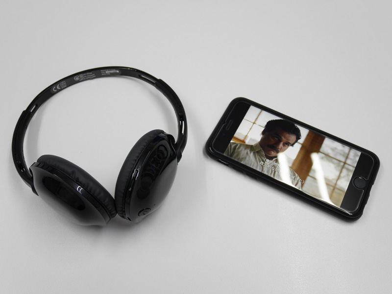 PHILIPS SHB4405 - iPhone 6sと接続
