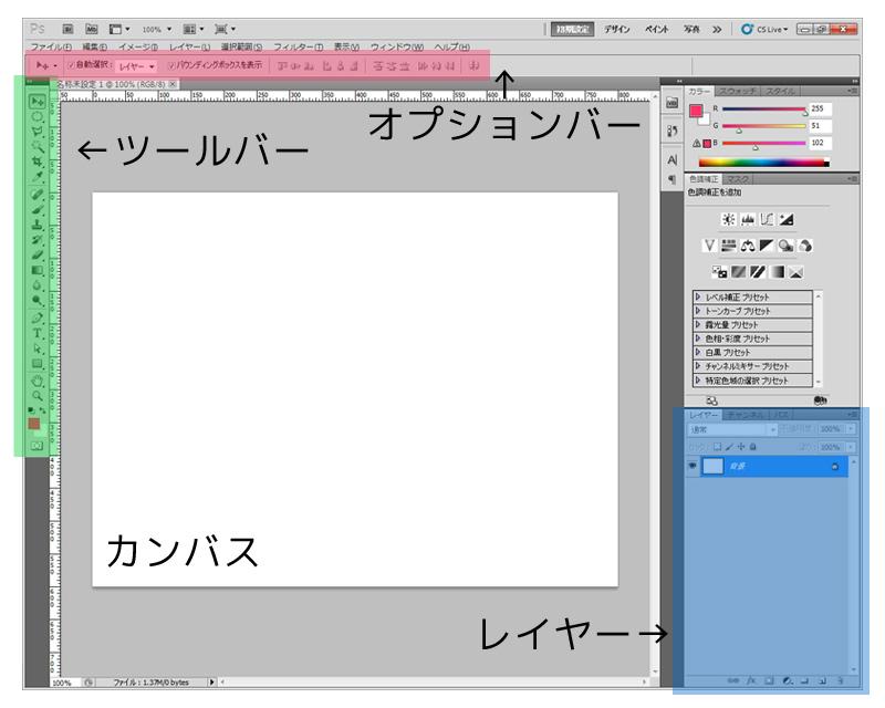 Photoshop CS5 - ワークスペース
