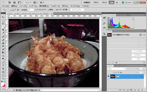 Photoshop CS5 自動カラー補正適用後