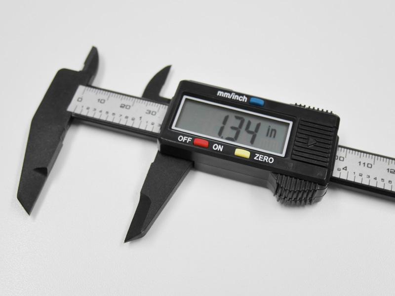デジタルノギスの使い方 - inch表示